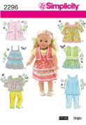 2296 Simplicity Pattern: Doll Clothes